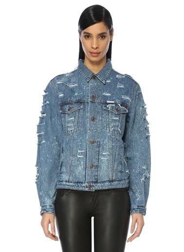Forte Couture Jean Ceket Mavi